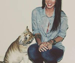 megan fox, tiger, and sexy image