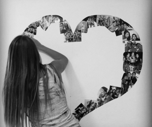 heart and girl image