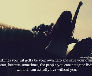 quote, girl, and hero image