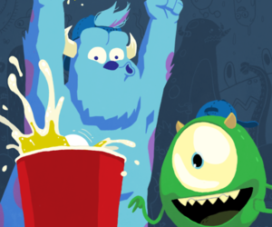 draw, sulley, and mike image