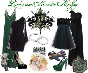clothes, lucius malfoy, and harry potter image