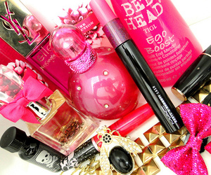 pink, perfume, and makeup image