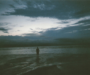 sea, alone, and hipster image