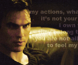 ian somerhalder, the vampire diaries, and quote image