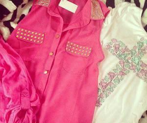 fashion, pink, and shirt image