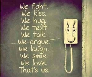 love, kiss, and text image