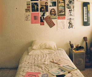 room, vintage, and bed image