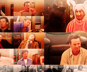 chandler bing, Matthew Perry, and tv show image