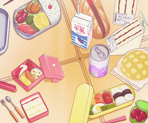 food, anime, and kawaii image