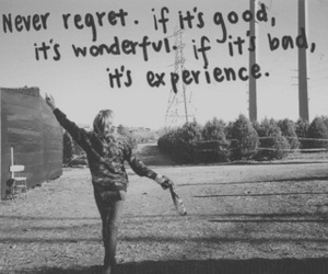 quote, experience, and life image