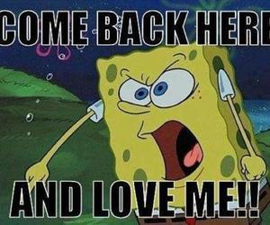 love, spongebob, and funny image