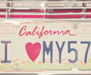 california, car, and heart image
