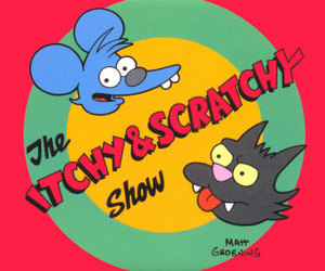 the simpsons and itchy and scratchy image