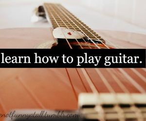 guitar, music, and text image