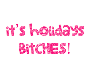 holiday, bitch, and quotes image