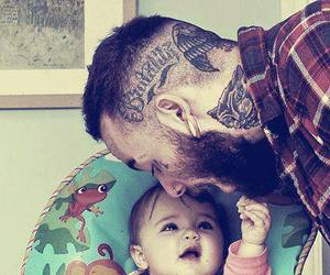 tattoo, baby, and dad image