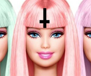barbie, cross, and pastel image