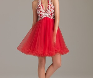 formal, red, and sweet sixteen image