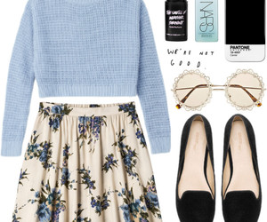 outfit, skirt, and style image