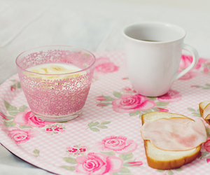 breakfast, pink, and pinl image