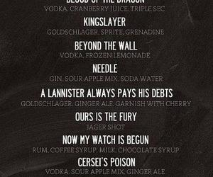 alcohol, game of thrones, and drinks image