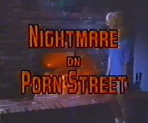 80s, Nightmare on Elm Street, and vhs image
