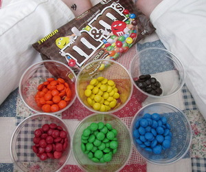 chocolate, delicious, and m&m image