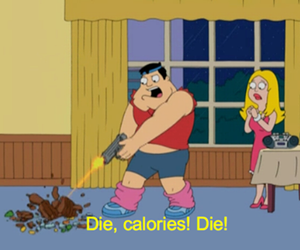 calories, die, and funny image