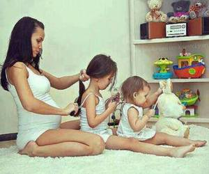 family, baby, and hair image