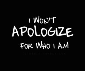 always, apologize, and black image