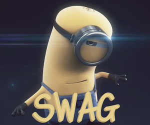 minions, swag, and justin bieber image