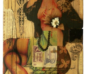 art, pinup, and Collage image