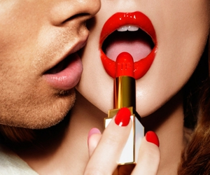 lips, photo, and red image