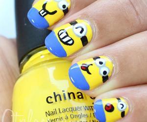 nails, minions, and yellow image