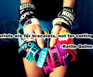 bracelets, cutting, and quote image