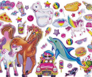 sticker, dolphin, and lisa frank image