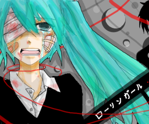 vocaloid, rolling girl, and hatune miku image