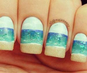 nails and beach image