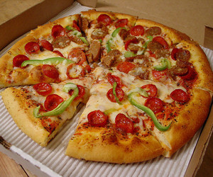 cheese, food, and pizza image