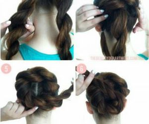 bun, hairstyle, and hair tutorial image