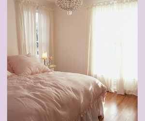 bed and chandelier image
