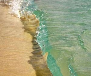 beach, water, and sea image