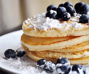 blueberry, food, and pancake image