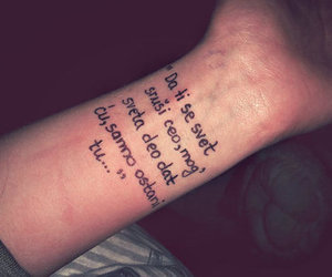 quote, tattoo, and world image