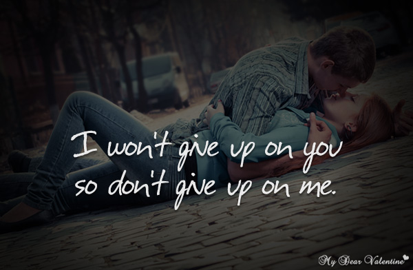 Image result for i wont give up on you
