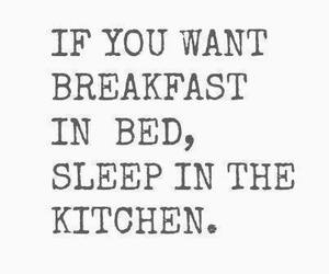 bed, breakfast, and funny image