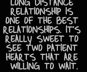 love, long distance, and quote image