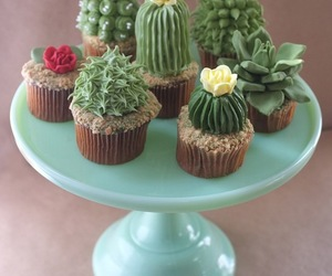 cupcake, cactus, and food image