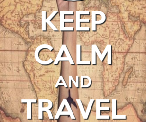 keep calm, light, and travel image