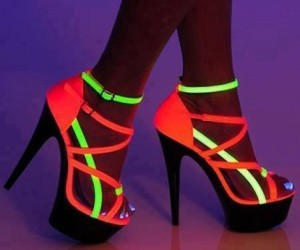 heels, shoes, and neon image